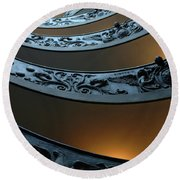 Staircase At The Vatican Round Beach Towel by Bob Christopher