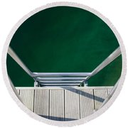 Stairs To The Water Round Beach Towel