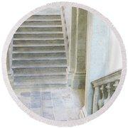 Stairway In Radovlica Round Beach Towel