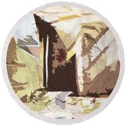Stairway To Heaven Abstract Round Beach Towel