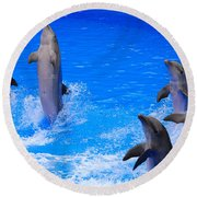 Standing To Attention Round Beach Towel