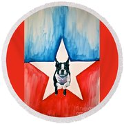 Star Appeal Round Beach Towel