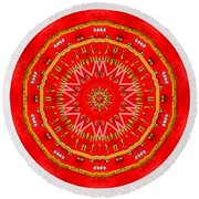 Star Cookie Art Round Beach Towel