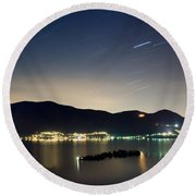 Star Trails Round Beach Towel