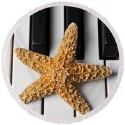 Starfish Piano Round Beach Towel