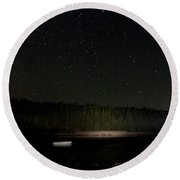 Stars Over Otter Cove Round Beach Towel