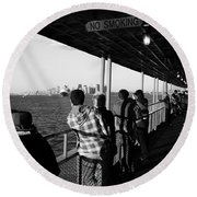 Staten Island Ferry 2 Round Beach Towel