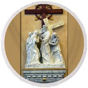 Station Of The Cross 04 Round Beach Towel