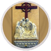 Station Of The Cross 14 Round Beach Towel