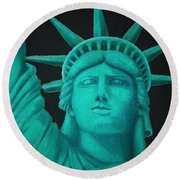 Statue Of Liberty ... Round Beach Towel