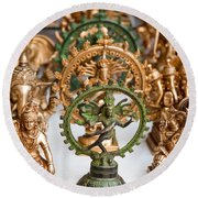 Statues For Sale Of Hindu Gods Round Beach Towel