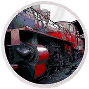 Steam Punk Railroad Round Beach Towel
