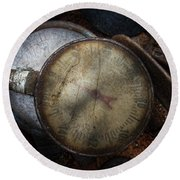 Steampunk - Gauge For Sale Round Beach Towel