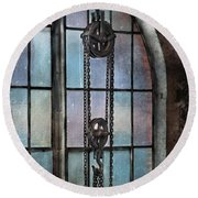 Steampunk - Gear - Importance Of Industry  Round Beach Towel