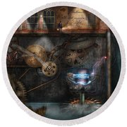 Steampunk - Industrial Society Round Beach Towel