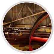 Steampunk - Machine - The Wheel Works Round Beach Towel