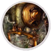Steampunk - Naval - Shut The Valve  Round Beach Towel