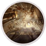 Steampunk - Naval - The Escape Hatch Round Beach Towel
