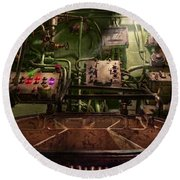 Steampunk - Naval - This Is Where I Do My Job Round Beach Towel