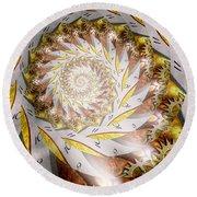Steampunk - Spiral - Time Iris Round Beach Towel