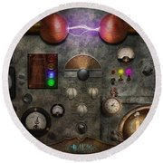Steampunk - The Modulator Round Beach Towel
