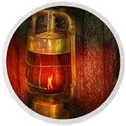 Steampunk - Red Light District Round Beach Towel
