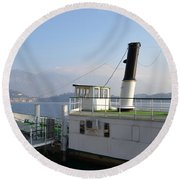 Steamship Round Beach Towel