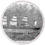 Steamship: Republic Round Beach Towel