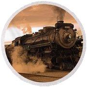 Steamtown Engine 2317 Round Beach Towel