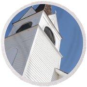 Steeple On St. Joseph's Catholic Mission Church Round Beach Towel