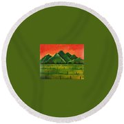 Stellenbosch Mountain Round Beach Towel