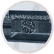 Step Reckoner, Leibniz Mechanical Round Beach Towel