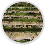 Steps On The Central Walk, Lismore Round Beach Towel
