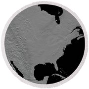 Stereoscopic View Of North America Round Beach Towel