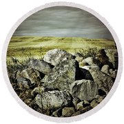 Sticks And Stones Round Beach Towel
