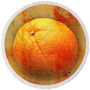 Still Life Orange Abstract Round Beach Towel
