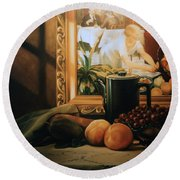 Still Life With Hopper Round Beach Towel by Patrick Anthony Pierson