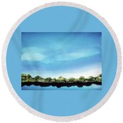 Still Reflections Round Beach Towel