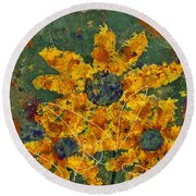 Stimuli Floral - S04ct01 Round Beach Towel by Variance Collections