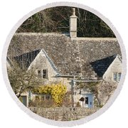 Stone Cottages Round Beach Towel