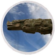 Stone Dragon Round Beach Towel