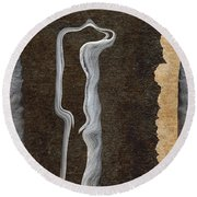 Stone Men 01 - Her Round Beach Towel by Variance Collections