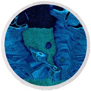 Stone Men 28c2b - Celebration Round Beach Towel by Variance Collections