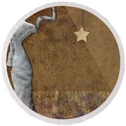 Stone Men 30-33 - Les Femmes Round Beach Towel by Variance Collections