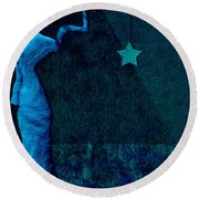 Stone Men 30-33 C02c - Les Femmes Round Beach Towel by Variance Collections