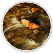 Stone Mountain River Rocks Round Beach Towel