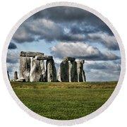 Stonehenge Landscape Round Beach Towel