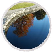 Stonewall And Autumn Reflections Round Beach Towel