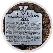 Stonewall Jackson House Round Beach Towel by Todd Hostetter