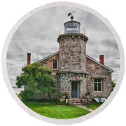 Stonington Lighthouse Museum Round Beach Towel